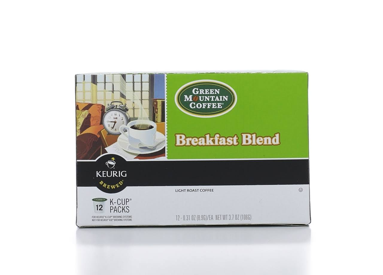 Green Mountain Coffee Keurig K Cups - Breakfast Blend, 12ct
