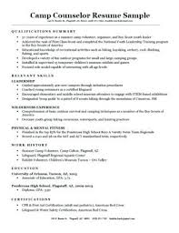 Cover Letter For High School Student Resume A Camp Counselor Sample Download