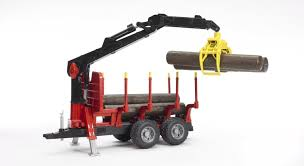 Logging Trailer With Grabber - Vehicle Toy By Bruder Trucks (02252 ...