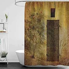 homecoco duschvorhänge für badezimmer fenster rustikales