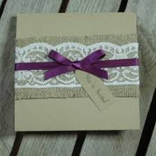 A Rustic Handmade Pocket Fold Wedding Invitation Design Embellished With Lovely Hessian And Lace