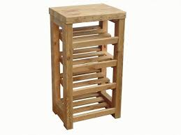 An Aesthetic Rustic Style Shoe Rack Entirely Crafted Of