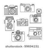 Set Of Retro Cameras