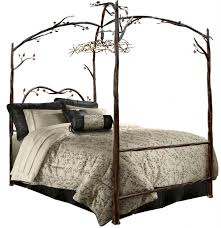 Bedroom Canopy Bed for Adult in King or Queen Bed Size Luxury