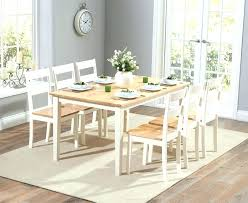Cream Dining Table Set Room Oak And Chairs