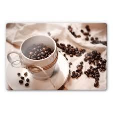 glasbild kaffee zauber wandbild deko esg glas auswahl größe