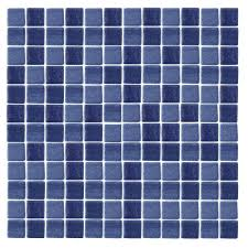 Epoch Architectural Surfaces Spongez S Dark Blue 1411 Mosiac Recycled Glass Mesh Mounted Floor