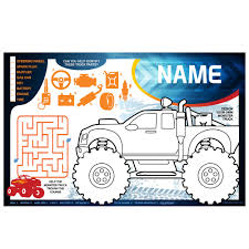 Red Monster Truck Personalized Activity Mat (Each) - Wholesale Party ... Drawing Of Monster How To Draw A Cool Tattoo Sstep Truck Party Ideas At Birthday In A Box Tattoos Cars Trucks Motorcycles From Smilemakers To Step By Pop Culture Free Jam Temporary 2011 Monster Timeflys 56 1854816228 Tattoos72 Tattoos Per Package Fun Express Inc 1461042 Pineal Model 18 24g Skelton King Sg801 Brushed Ink Little Globalbabynz 64 Chevy Y Twister Tattoo Santa Tinta Studio Tj Facebook Truck Body Shop The Kids Got Monster