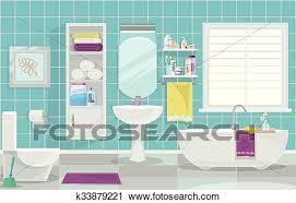 modernes badezimmer innere clipart k33879221 fotosearch