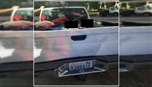 100 Kids Truck Bed Tied Down With Bungee Cords While Riding In Truck Bed Wa