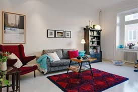 Red Living Room Ideas by Simple But Working Apartment Living Room Ideas Modern Interior For