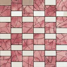 Peel And Stick Tile Red Aluminum Metal Wall Adhsive Mosaic Kitchen Backsplash MH642