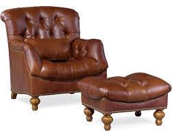 Natuzzi Brown Leather Swivel Chair by Furniture Alluring Leather Chair And Ottoman For Cozy Home