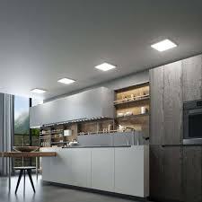 led deckenleuchte solvie eckig silber lenwelt 30 cm deckenle küche flur