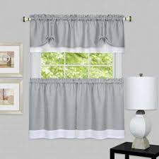 gray window scarves valances window treatments the home depot