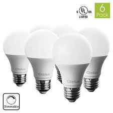 glolux a19 dimmable led light bulb 60 watt equivalent e26 base