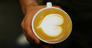 A Bartender Makes An Artistic Composition With Fresh Milk To Make Cappuccino Italian Quality Using Espresso Concept Passion For Work