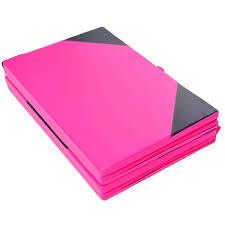 gymnastics floor mats uk homcom folding mat 5 cm thick pink black