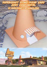 Papercraft Disney Pixar Cars Cozy Cone Motel