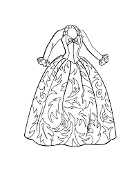 Barbie Fashion Doll Dress Colouring Page Coloring