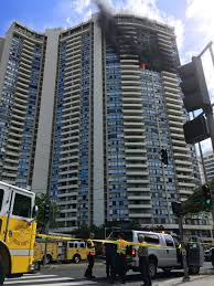 100 Marco Polo Apartments Fire Rages In Honolulu Highrise Apartment Bu Taiwan News