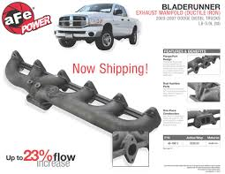 New AFe Power Ductile Iron Exhaust Manifold For 2003-2007 Dodge ... All New Lifted Tricked Out Mega Cab 2013 Dodge Ram Laramie Cummins Custom Diesel Trucks 2011 Ford Vs Gm Truck Wallpapers Group 85 1996 Ram 2500 4x4 Overhaul Two Tone Youtube West Tn 2015 3500 4x4 Diesel Cm Flat Bed Truck Black Used Image Rhkusaboshicom Best Old Dodge Trucks For Sale 2000 59 Local California Clash Of The Titans 2017 V Ford F350 Miami Lakes Torque Wars 2018 Hd Claims Most And Heaviest 5thwheel Zone Offroad 23500 15 Body Lift 20 Reviews Price Photos Specs Car