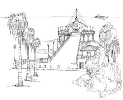 Los Angeles Cityscape Drawings On Illustration Served