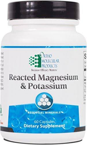 Ortho Molecular Reacted Magnesium and Potassium Supplement - 60 Capsules