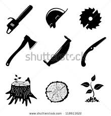 Set Of Icons Woodworking Industry Vector Illustration