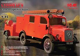 100 German Trucks L1500S LF 8 Light Fire Truck ICM 35527