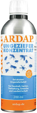 ardap ungeziefer konzentrat zur herstellung bis zu 50 liter ungezieferspray gegen fliegen stechfliegen motten mücken wespen silberfische