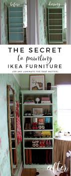 The Secret to Painting IKEA Furniture Swoon Worthy