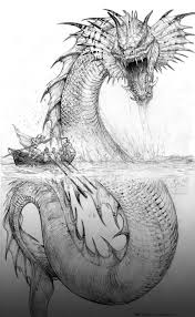 Sea Serpent Coloring Pages