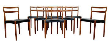 Danish Dining Set Mid Century Modern Teak Table Eight Chairs In Good