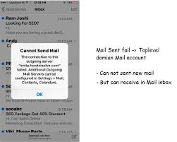 Cannot Send Email From iPhone Mail App Outgoing Server Failed