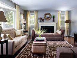 Image Of Long Narrow Living Room With Front Door