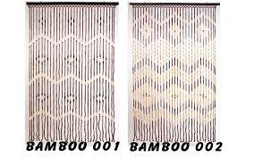 Natural Bamboo Beaded Door Curtain by Gardinen Deko Gardinen Bambus Gardinen Dekoration Verbessern