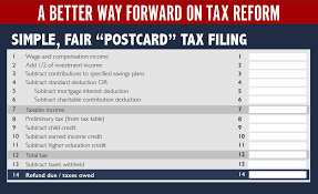 paul ryan u0027s postcard tax return is really dumb vox