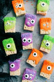 Rice Krispie Treats Halloween Theme by Rice Krispies Treat Monsters Recipe Spider Cookies Nutter