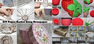 How To Make Basket From Old Newspaper