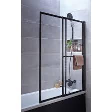 si e pivotant de baignoire pare baignoire 2 volets pivotant coulissant 140 x 123cm verre