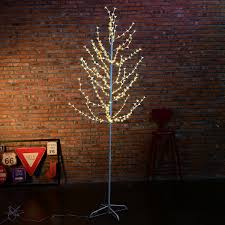 5ft Christmas Tree With Led Lights by 7ft Led Cherry Blossom Lighted Tree Floor Lamp Christmas Holiday