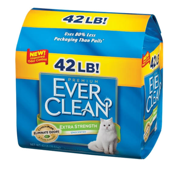 Ever Clean Extra Strength Unscented Cat Litter - 42-lb