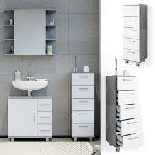 vicco badschrank ilias weiß beton midischrank bad schrank badregal badezimmer