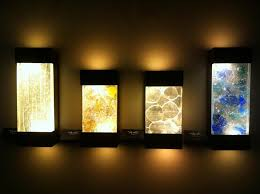lights decors ideass ideas set on brown wall with