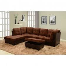 Broyhill Laramie Microfiber Sofa In Distressed Brown by Faux Leather Sectional Sofa Foter