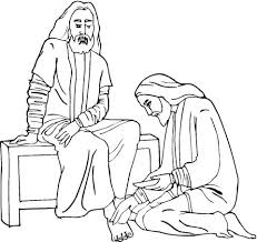 Click To See Printable Version Of Jesus Foot Washing Coloring Page