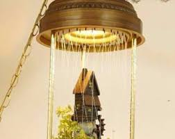 Antique Hanging Oil Rain Lamp by 70s Swag Lamp Etsy