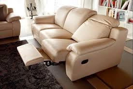 Modern Reclining Sofa Beige The Holland Modern Reclining Sofa