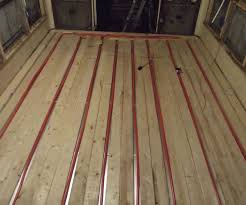Radiant Floors For Cooling by Putting A Heated Floor In A Bus Part 1 5 Steps